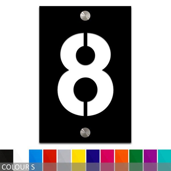 Custom Modern House Number/Street Number Acrylic Sign Plaque - 150mm x 100mm