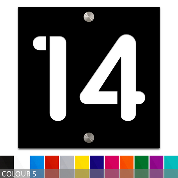 Custom Modern House Number/Street Number Acrylic Sign Plaque - 150mm x 150mm