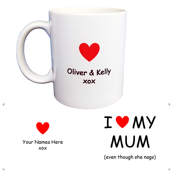 Personalised I Love My Mum Coffee Mug