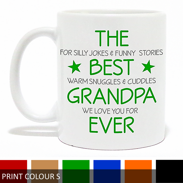 Personalised 'Best Grandpa/Poppy Ever' Verse Mug