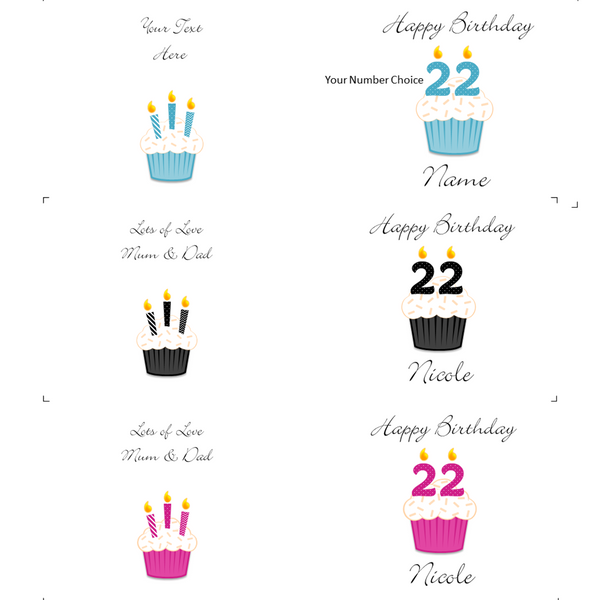 Personalised 'Happy Birthday' Cupcake Mug