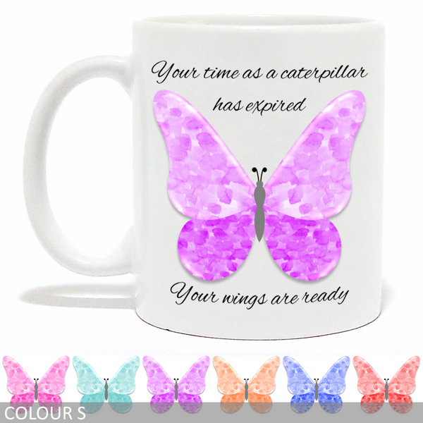 Inspirational Watercolour Butterfly Mug - ...... Your Wings Are Ready