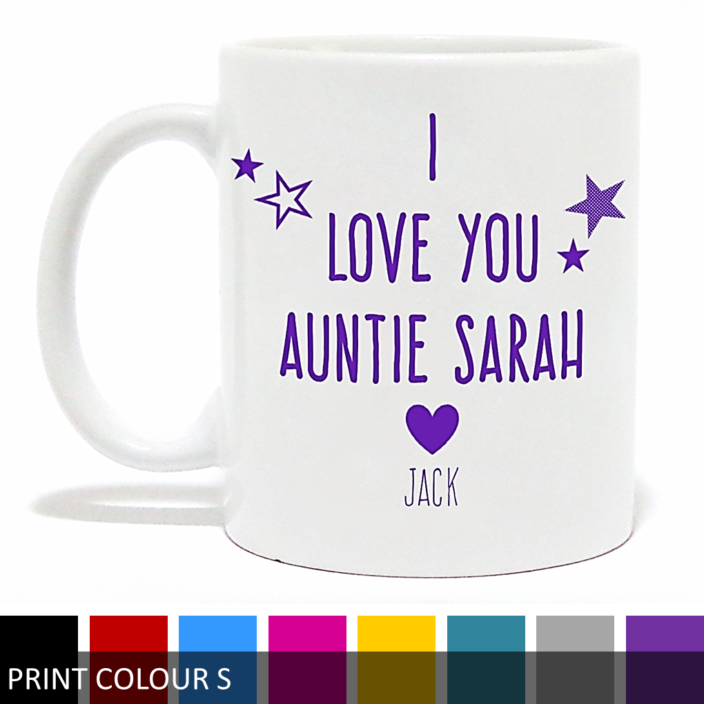 Personalised 'I Love You Aunt/Auntie' Mug