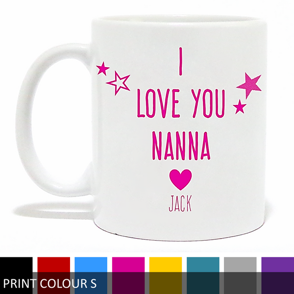 Personalised 'I Love You Nanna/Grandma' Mug