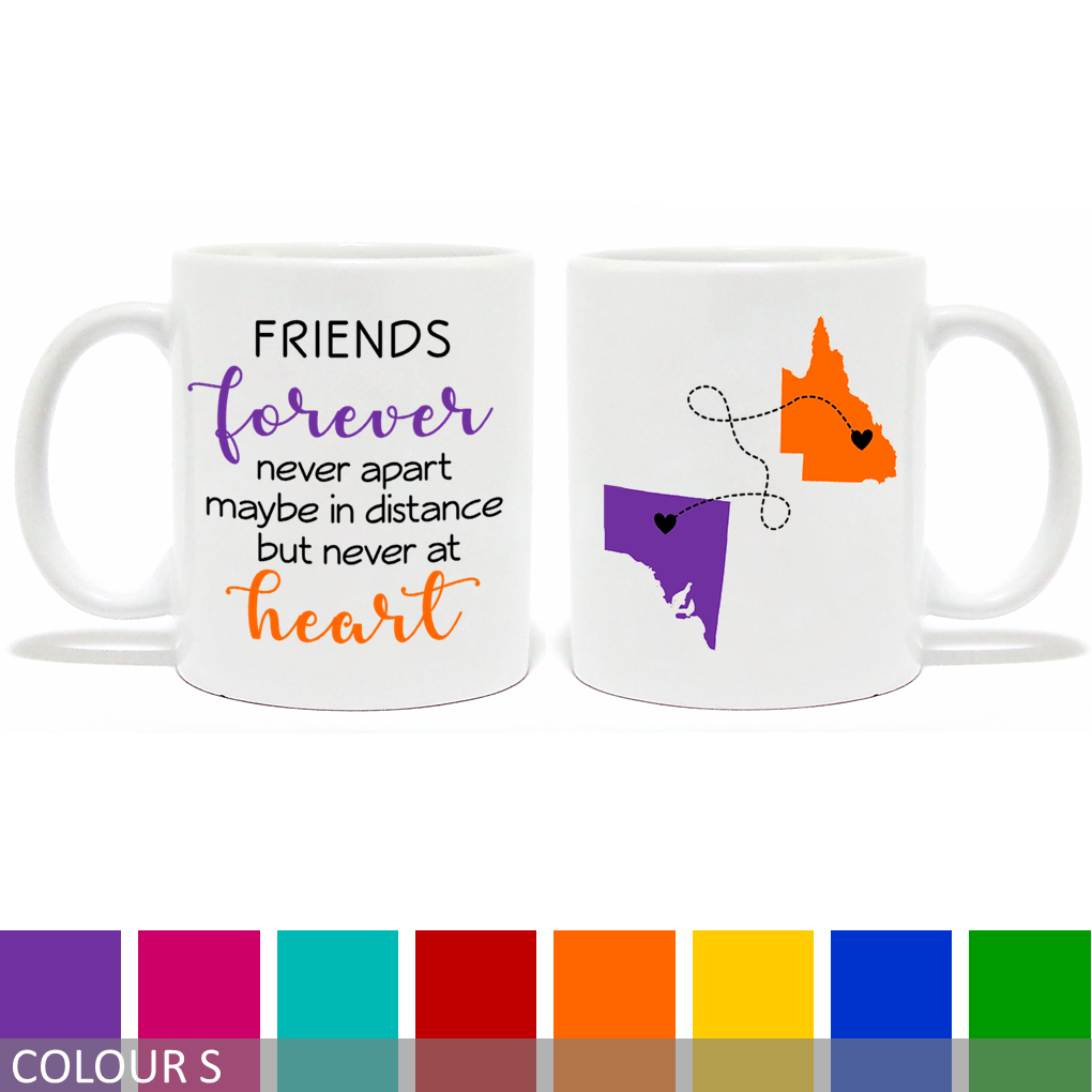 Personalised Long Distance Friends Mug