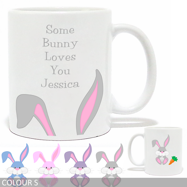 Personalised 'Some Bunny Loves You' Mug