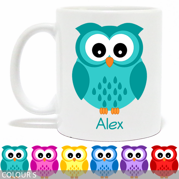 Personalised Big Eyes Owl Mug