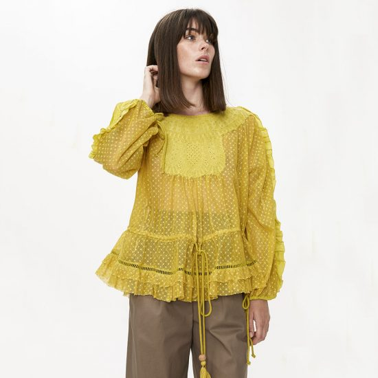 Cotton Tulle Blouse - Lex & Lynne