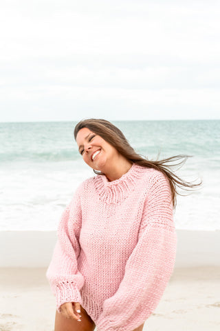 Blush Wool Sweater - Lex & Lynne