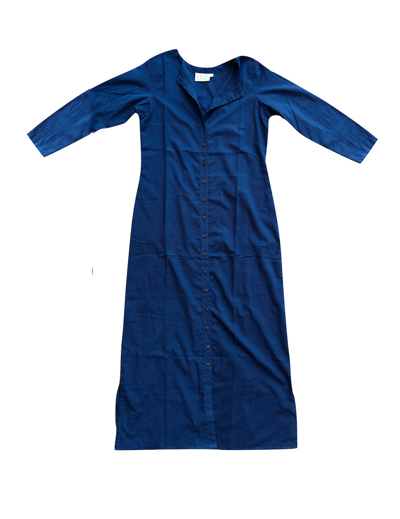 Indigo Cotton Maxi Dress - Lex & Lynne