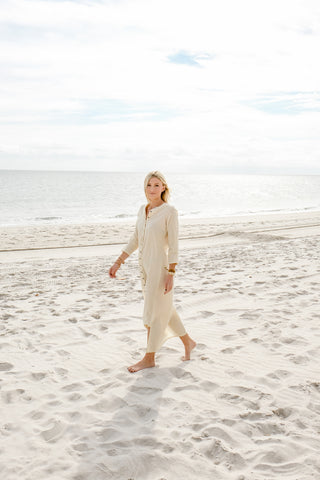 Natural Cotton Maxi Dress - Lex & Lynne