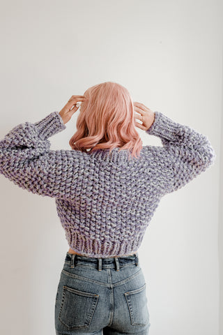 Lilac Crop Sweater