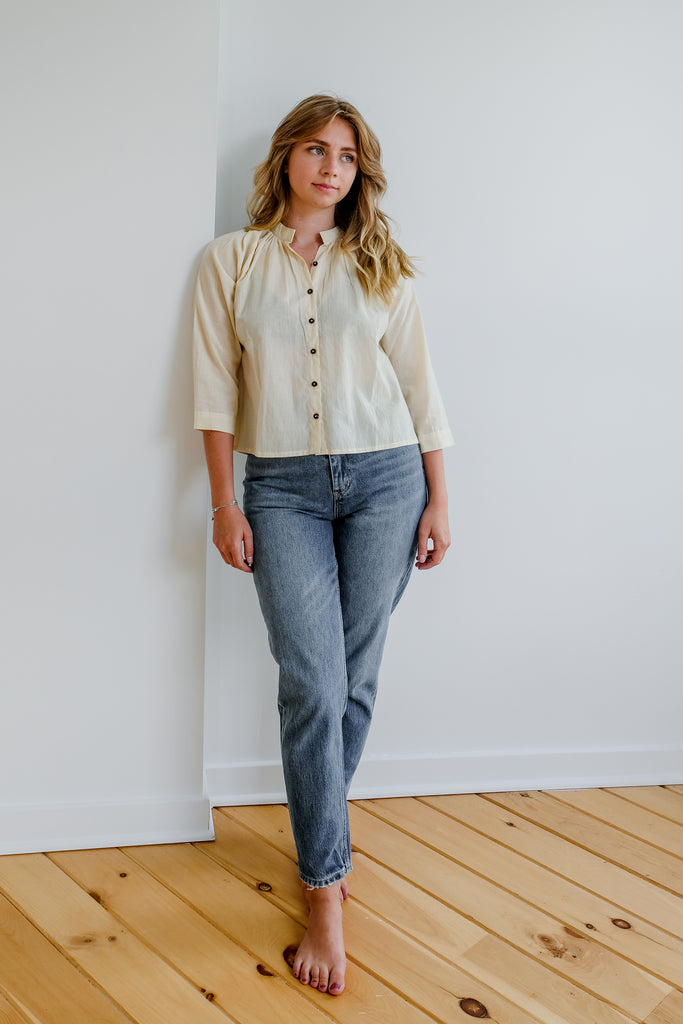 Natural Cotton Blouse