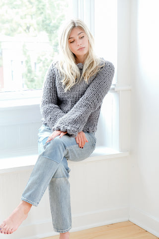 Grey Scallop Sweater