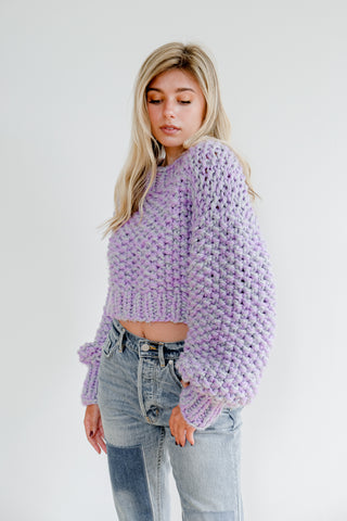 Lilac Wool Crop Sweater