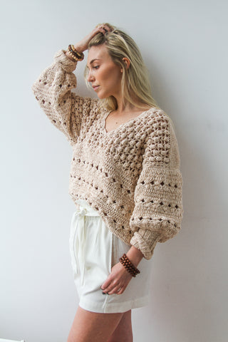 Blush Cotton Sweater