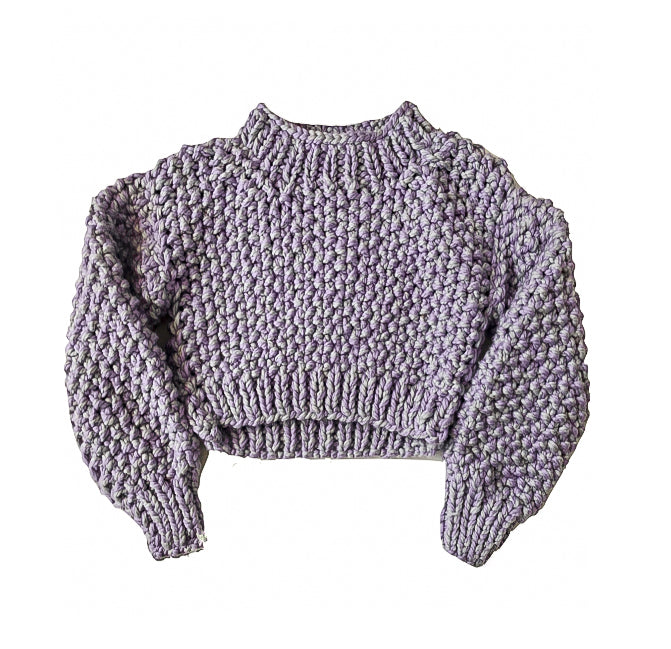 Lilac Wool Crop Sweater - Lex & Lynne