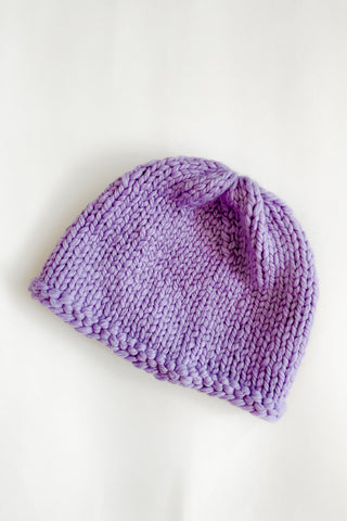 Bright Purple Beanie