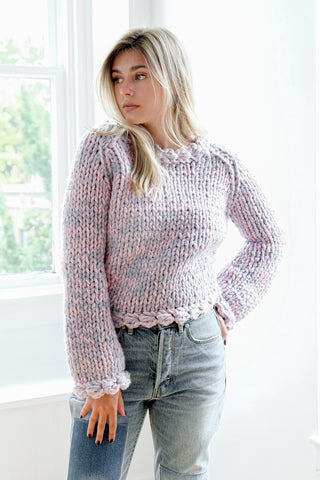 Blush Scallop Sweater
