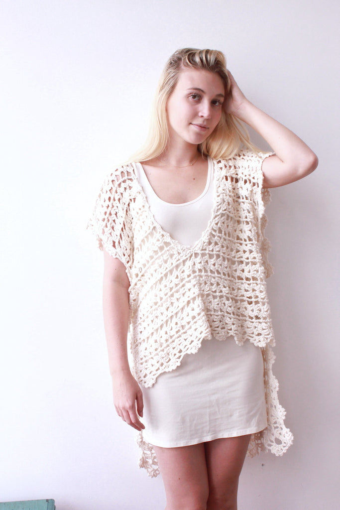 Open Knit Hi-Lo Cover Up