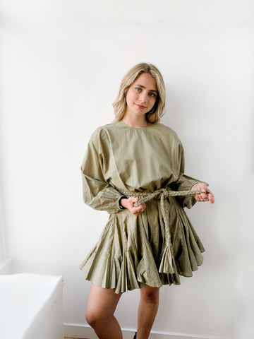 Ella Dress in Olive - Lex & Lynne