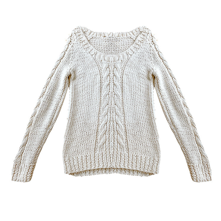 Classic Cable Knit Sweater - Lex & Lynne