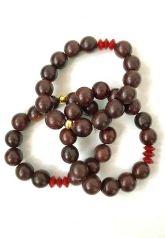 Rosewood Bracelet with Coral