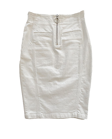 White Denim Skirt - Lex & Lynne