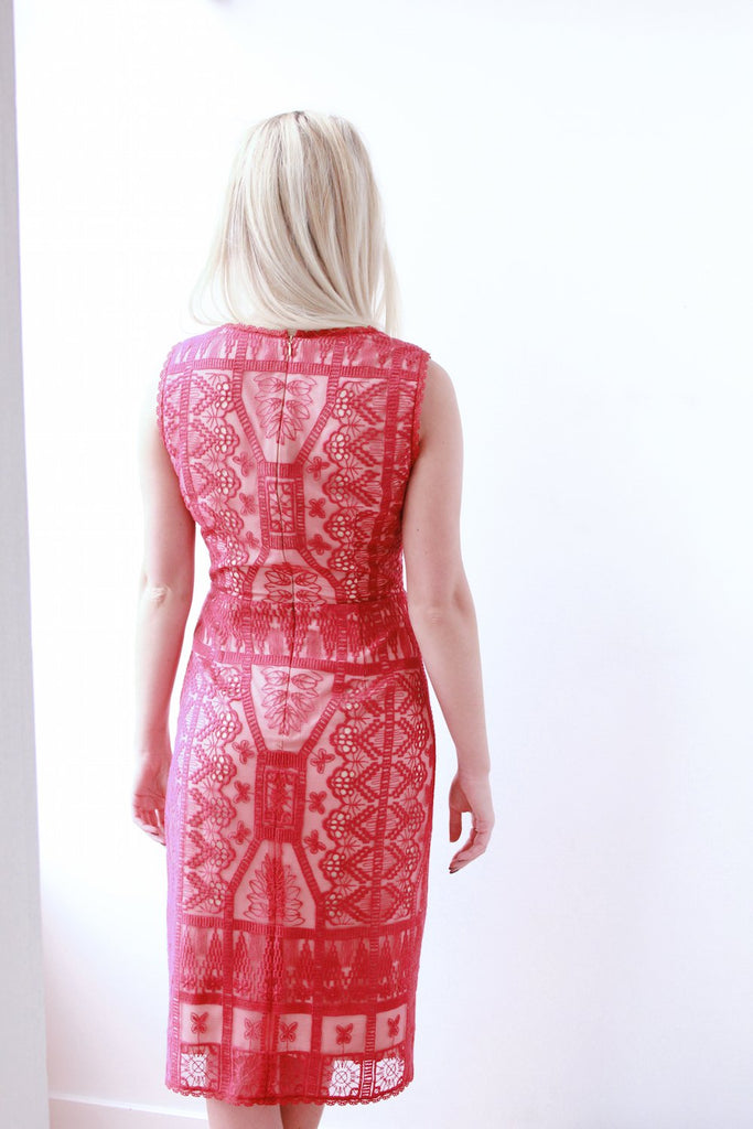 Crimson Lace Dress - Lex & Lynne