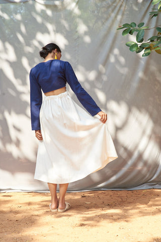 Lavina Skirt in White - Lex & Lynne