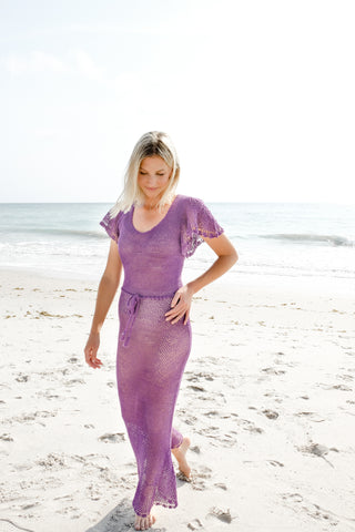 Ruffle Maxi Dress in Lilac