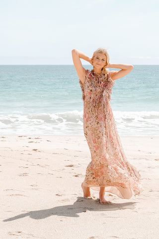 Blush Floral Dress - Lex & Lynne