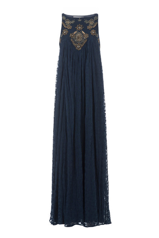 Navy Embellished Maxi Dress - Lex & Lynne