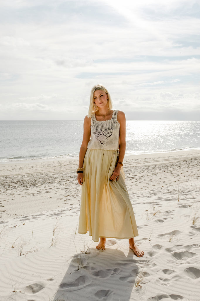 Natural Cotton Maxi Skirt - Lex & Lynne