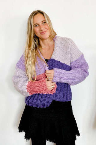 Merilee Cardigan in Purple