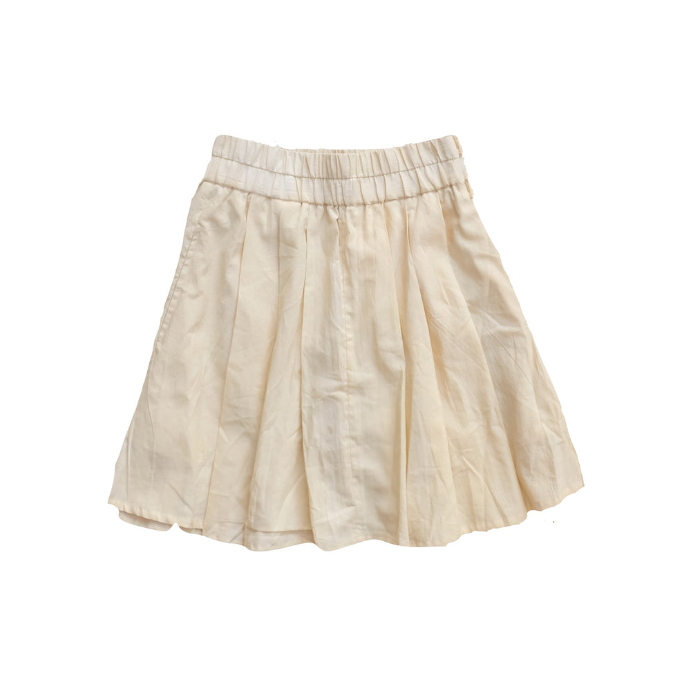 Natural Cotton Mini Skirt - Lex & Lynne
