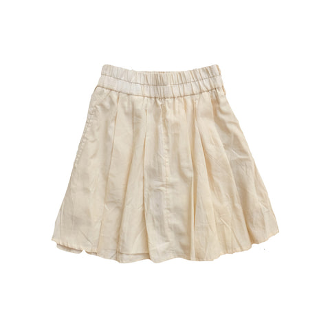 Natural Cotton Mini Skirt