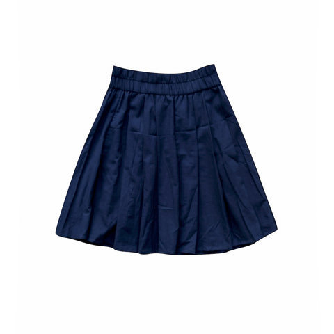 Cotton Mini Skirt in Indigo
