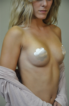 Satin Nipple Covers in Nude