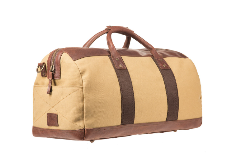 Atticus Duffle in Tan/Brown - Lex & Lynne