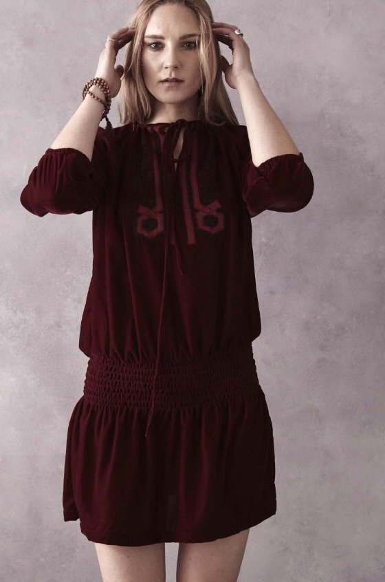 Soni Dress in Wine