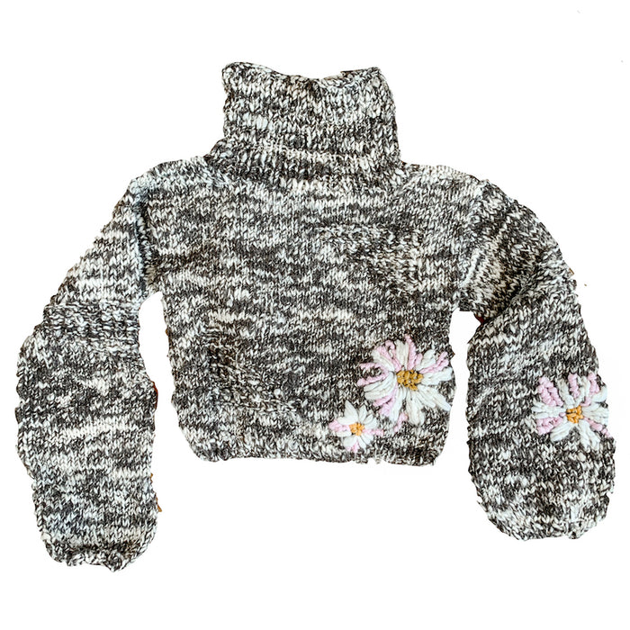 Pepper Floral in Multi 100% Sustainable Sweater - Lex & Lynne