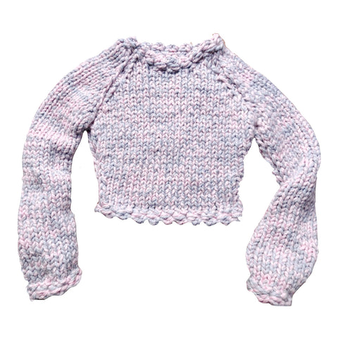 Blush and Grey Merino Wool Sweater - Lex & Lynne