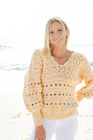 Popcorn Sweater in Marigold - Lex & Lynne