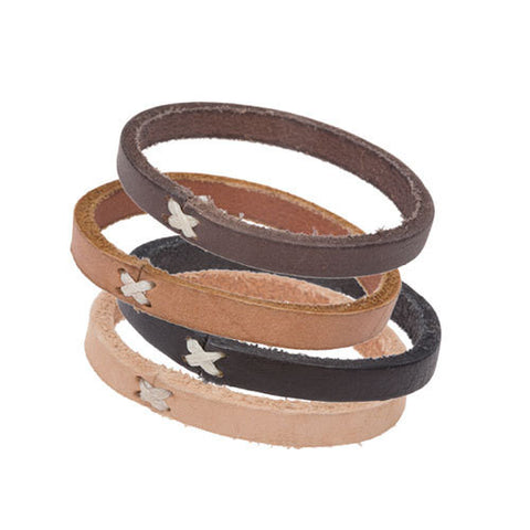 Cross Stitch Leather Bracelets - Lex & Lynne