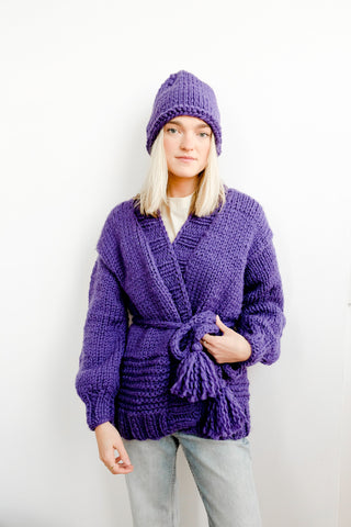 Royal Purple Cardigan