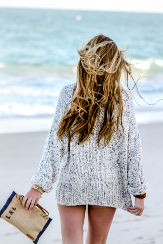 Relaxed Knit in French Blue