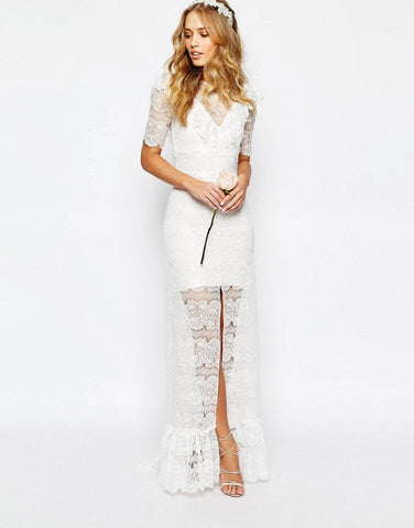 Ruffle Lace Dress