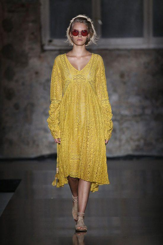 Ochre Lace Dress - Lex & Lynne