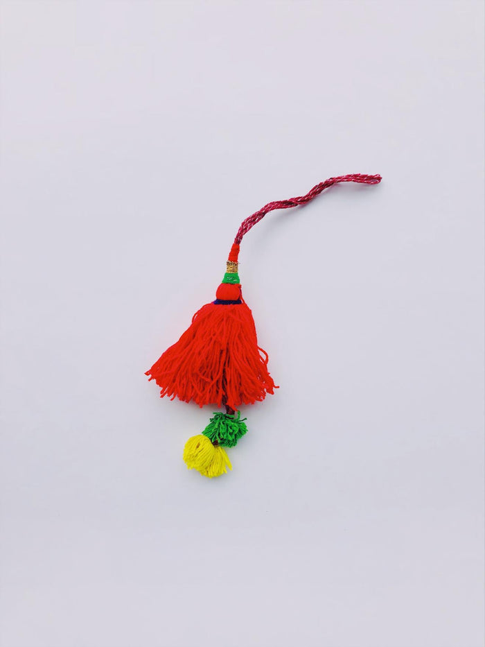 Red Double Tier Tassel